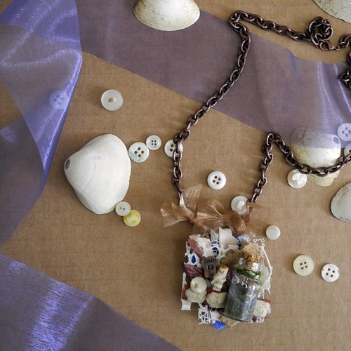 Beach Collage pendant