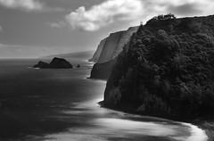 (briyen) Tags: ocean mountain tree water island hawaii coast big long exposure north distant clif hazw flickrchallengegroup flickrchallengewinner