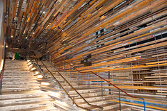 Nishi Lumberyard Staircase (Mark Tindale) Tags: building architecture stairs design recycled timber interior canberra publicart recycling act