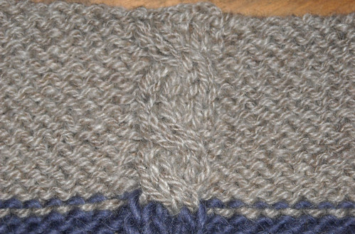 worsted at 32 swatch