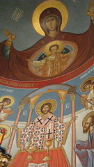 In the Sanctuary (A Whistling Train) Tags: church icons indiana orthodox serbian saintsava merrillville