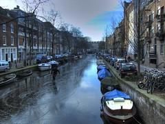 Egelantiersgracht (Roomtaart) Tags: ice amsterdam skating hdr egelantiersgracht