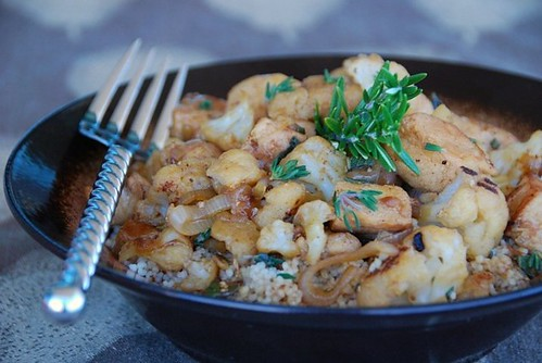 chicken cauliflower brown mat