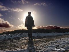 She is my sunshine (Graham_Parry) Tags: winter sky horse woman sun silhouette shoe pass llangollen grahamparry