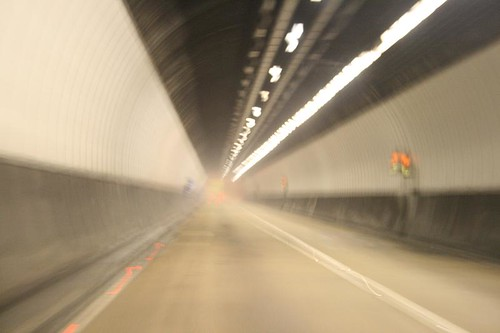 toyota iq drive in a tunnel