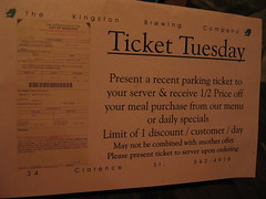 Ticket Tuesday at the Kingston Brewing Co. pub