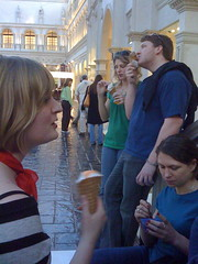 Gelato on the Steps (arirose) Tags: travel lasvegas ber