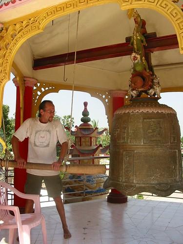 De maat slaan in een Chinese tempel
