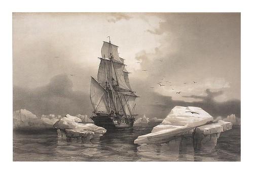 009-Corbeta La Recherche cerca de Beerenøyen. 7. Agosto 1838