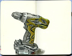 hitachi drill 01 (paul heaston) Tags: art moleskine notebook artwork drawing journal sketching sketchbook hitachi drill penandink powertool