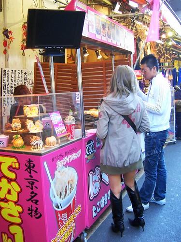 giant takoyaki stand