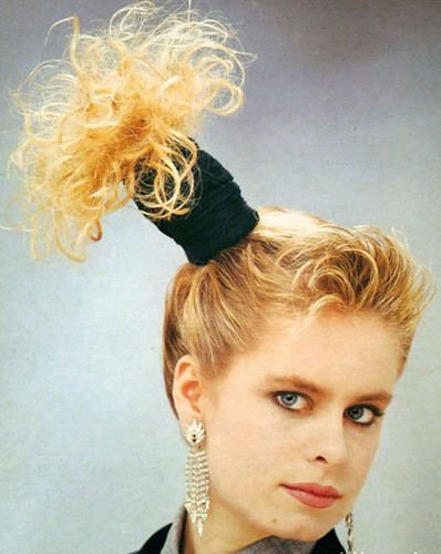 80s Hairstyle 194. 1987 side ponytail