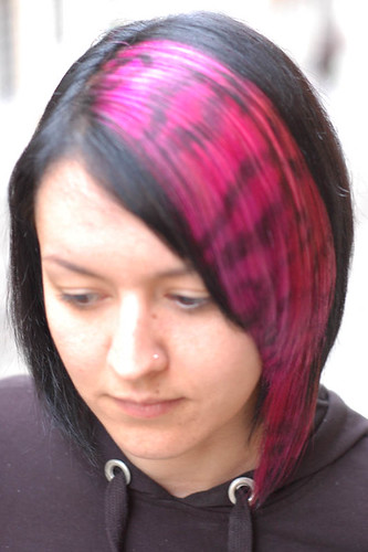 haircut red color with design · hair