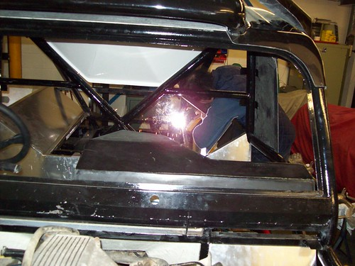 Welding the box section back into place