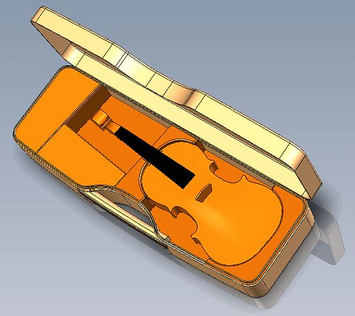 Calder new violin 3D interior top