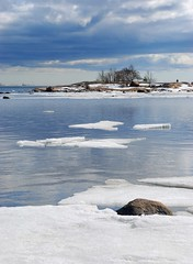 The ice is melting (johngpson) Tags: sea ice finland spring helsinki lauttasaari