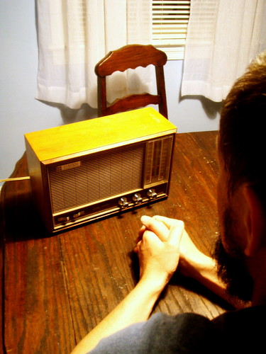 a boy and his radio