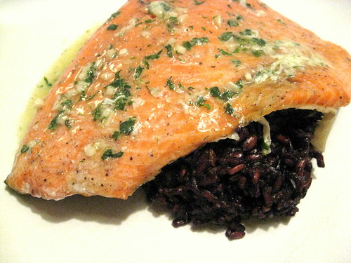 Wild Baked Salmon with Basil Butter - Turntable Kitchen