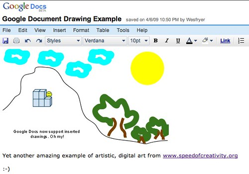 Google Document Drawing Example - Google Docs