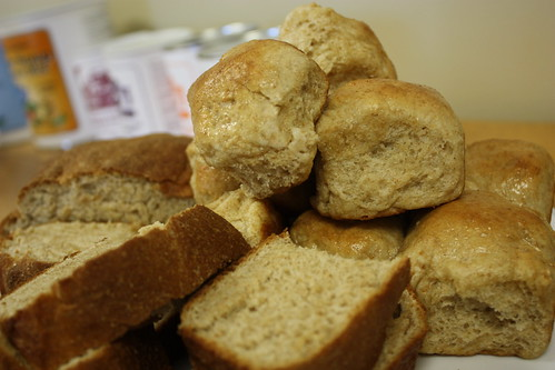 Honey Wheat Rolls and Bread