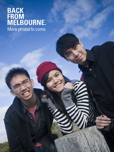 Back from melbourne!