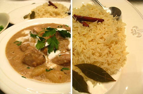 Sri Lanka pork curry with pilaf