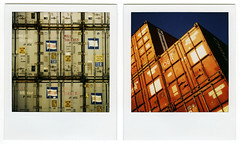 polaroid diptych. 2009. (eyetwist) Tags: film analog polaroid sx70 diptych commerce transport ishootfilm 600 integral instant analogue shipping enlarger 2008 import polaroid600 containers dupe timezero emulsion endofanera supersaturated fromthearchives portoflosangeles daylab instantfilm epson4990 type600 polaroid779 779 conex eyetwist sx70landcamera ishootpolaroid pola600 savepolaroidcom originallyshoton35mmslidefilm sx70base