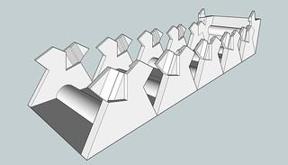 Hexagonal Column with Locking Tabs