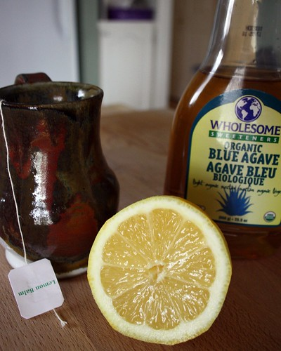 Lemon Balm Tea with Agave Nectar & Fresh Lemon Juice