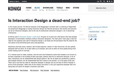 Is Interaction Design a dead-end job