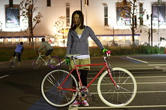 FUJI (sgym_) Tags: girl japan fixed fixie fixedgear yokohama pist