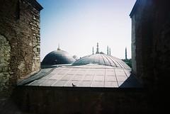 bird in istanbul (dseven) Tags: roof bird slim sofia pigeon minaret wide istanbul mosque vivitar ultra hagia ayasofya