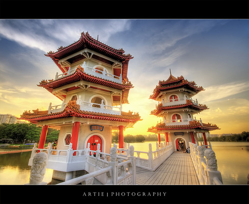 The Pagodas at the Singapore Chinese Garden :: HDR