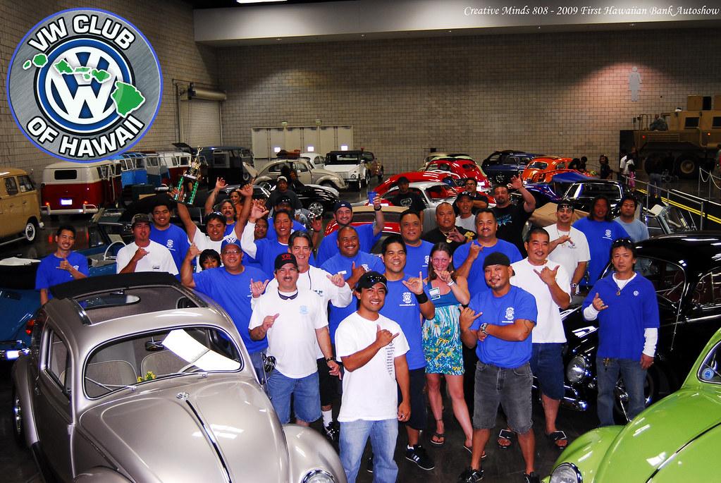VW Club of Hawaii at the 2009 FHB International Autoshow.