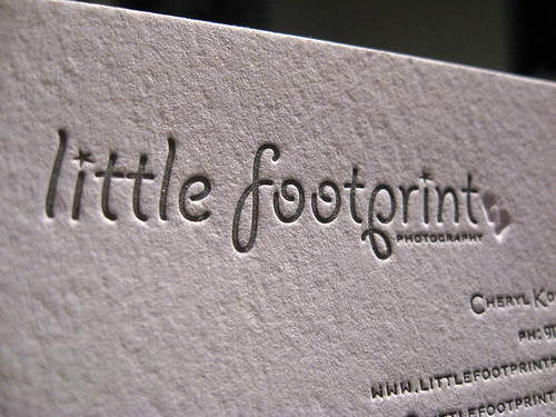 Little Footprint Photography Cards - Closeup