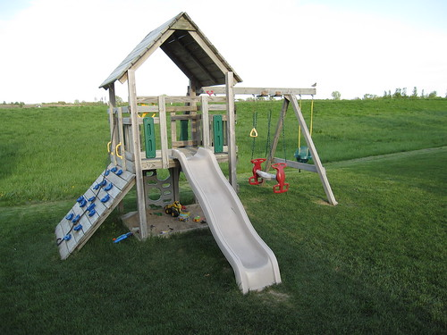The play equipment in our yard