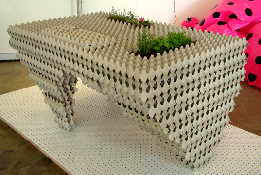 Auto Cannibalistic Table, eggcrate table, takeshi miyakawa