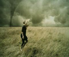 storm (sole) Tags: sky woman storm holland girl field clouds photoshop photography europe wind blond tornado solea carmengonzalez mywinners hamanenshari040509