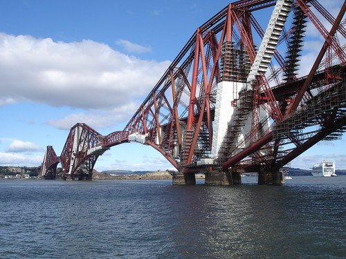 the Forth Bridge, a symbol of constant maintenance. (however the latest paints claim to last longer)