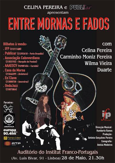 Celina Pereira - Entre Mornas e Fados - Flyer