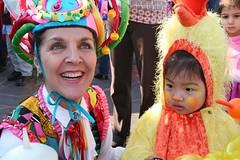 Clown with Chicken Baby
