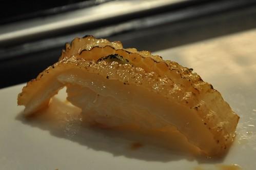 你拍攝的 銀鱈鰭邊壽司。
