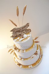 Seaside (Bettys Sugar Dreams) Tags: wedding shells cake seashells germany deutschland seaside dunes weddingcake hamburg shell betty northsea sylt nordsee torte dnen muschel fondant tuggy muscheln treibholz seestern hochzeitstorten dnengras motivtorte bettyssugardreams hochzeistorte