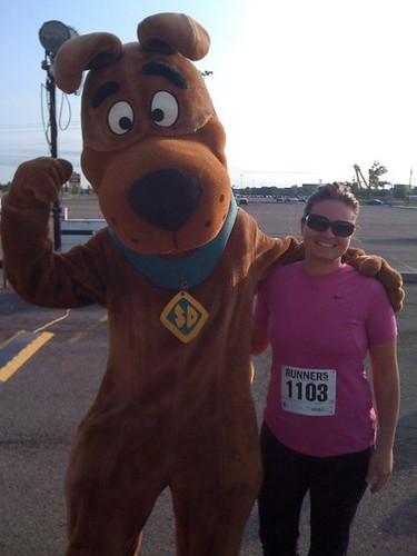 Andrea Runs with Scooby