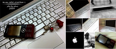 Ma & $oN  (~(ZaHrA)~...) Tags: red apple bag macintosh grey phone heart laptop ericsson sony cell marron gsm burrbery accsessories maon