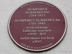 Photo of Humphrey Burrows Snr and Humphrey Burrows Jnr claret plaque