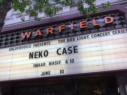 Neko Case, the Warfield, June 10, 2009