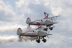 Guinot Wing walkers 7 (ahisgett) Tags: show display air wing boeing walkers stearman midlands cosford guinot