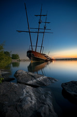 Blue Hour at Jordan Harbor (Explored) (Insight Imaging: John A Ryan Photography) Tags: toronto ontario boat long exposure ship niagara wreck jordanstation jordanharbour nikond300 wwwinsightimagingca johnaryanphotography