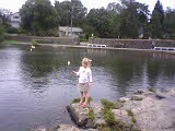 Girl 3 at pond